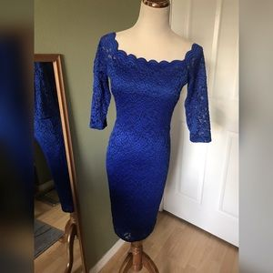 Dresses & Skirts - Royal blue lace dress